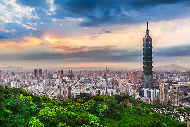 Skyline of Taipei