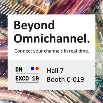 Beyond Omnichannel. Connect your channels in real time. DMEXCO, Hall 7, Booth C-019